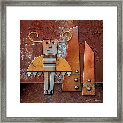 Otto The God Of October Framed Print by Joan Ladendorf