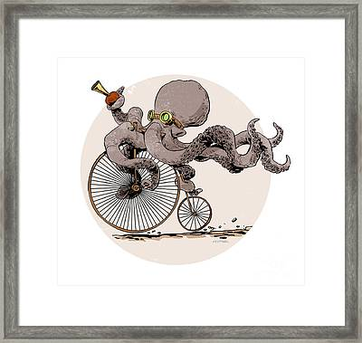 Otto's Sweet Ride Framed Print by Brian Kesinger