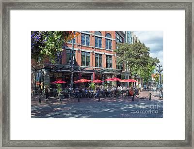 Oudoors Restaurant Vancouver Framed Print