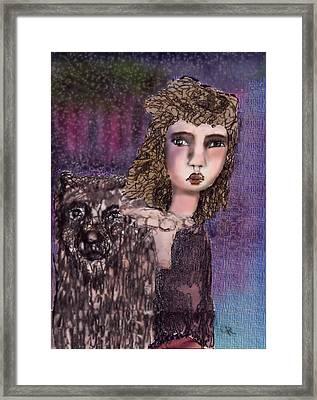 Oui Framed Print by Cynthia Richards