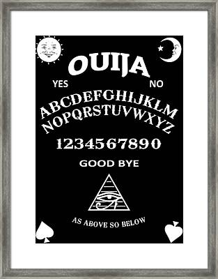 Ouija Framed Print by Nicklas Gustafsson