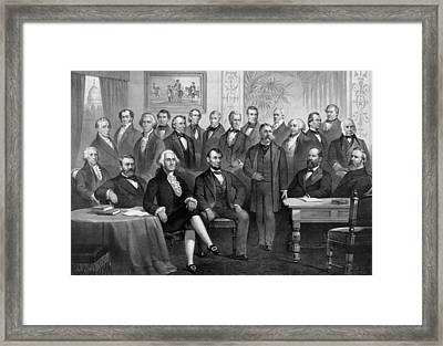 Our American Presidents 1789 - 1881  Framed Print