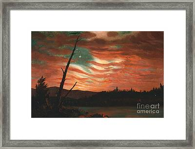 Our Banner In The Sky Framed Print