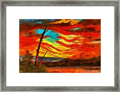 Our Banner In The Sky Revisited - Da Framed Print