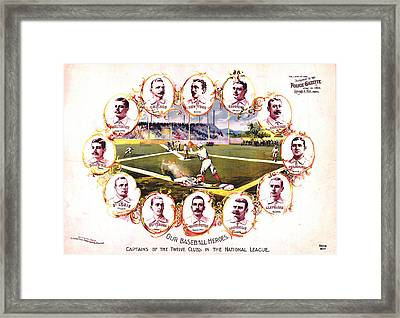 Our Baseball Heroes Framed Print by Charles Shoup