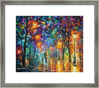 Our Best Friend  Framed Print by Leonid Afremov