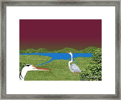 Our Blue Herons Framed Print