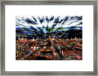 Our City In The Andes Framed Print by Al Bourassa