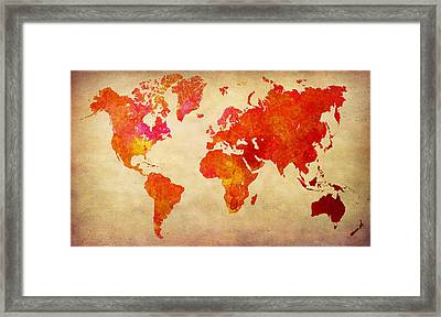Our Colorful World Framed Print by Lj Lambert