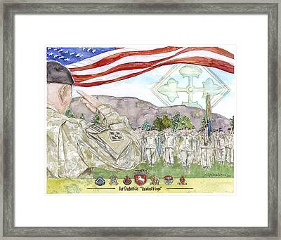 Our Credentials Steadfast And Loyal Framed Print