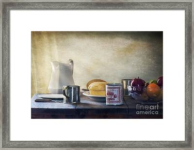 Our Daily Bread Framed Print by Priscilla Burgers