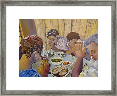 Framed Print featuring the painting Our Daily Bread by Saundra Johnson