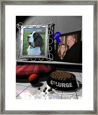 Our Dog Splurge Framed Print by Stuart Stone