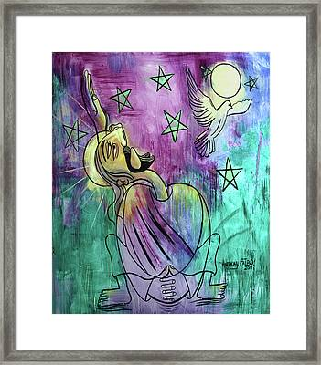 Our Father Who Art In Heaven Framed Print by Anthony Falbo