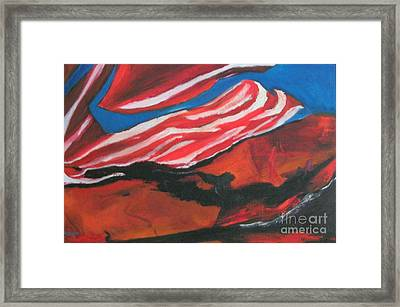 Our Flag Their Oil Framed Print by Patrick Mills
