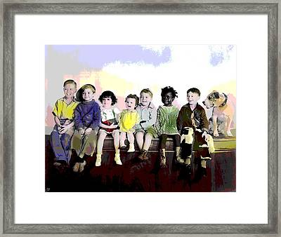 Our Gang  Framed Print