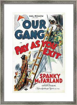 Our Gang In Pay As You Exit 1936 Framed Print by M G M