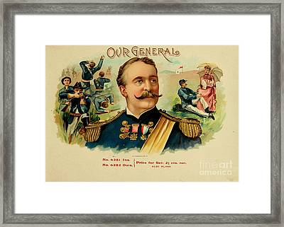 Our General Cigars Framed Print by Pd