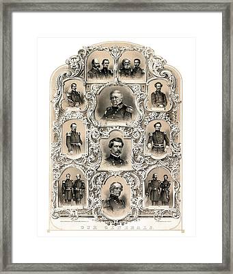 Our Generals -- Union Civil War Framed Print