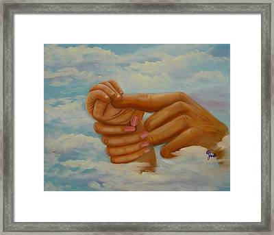 Our Hands Framed Print by Joni McPherson