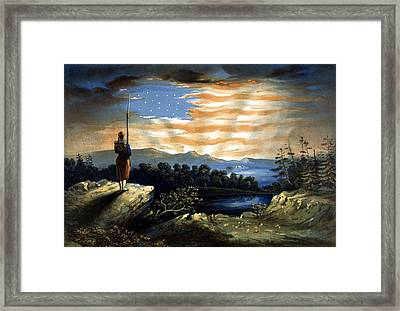 Our Heaven Born Banner Framed Print by War Is Hell Store