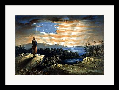 Union Soldier Framed Prints