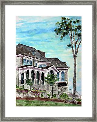 Our Home On The Hill Framed Print by Tim Ross