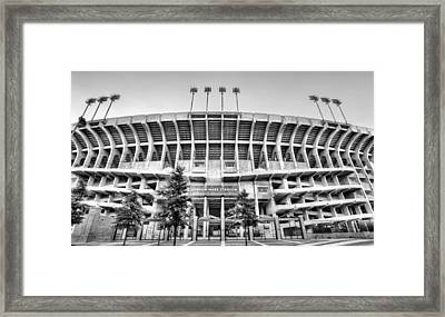 Our House Auburn Jordan-hare Black And White Framed Print by JC Findley