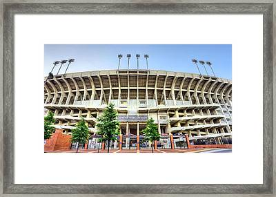 Our House Auburn University Jordan-hare Framed Print by JC Findley