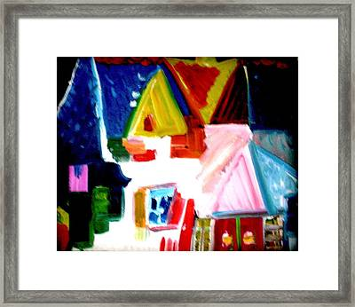 Our House Is A Very Very Very Fine House Framed Print by Laura  Grisham