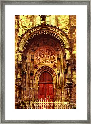 Framed Print featuring the photograph Our Lady Before Tyn 1. Architecture. Series Golden Prague by Jenny Rainbow