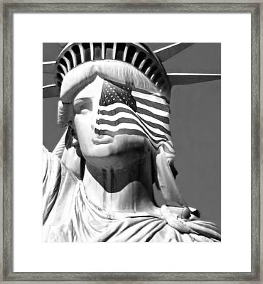 Our Lady Black And White Framed Print by Diana Angstadt