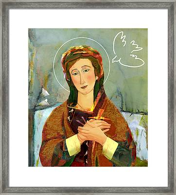 Our Lady Of Compassion Framed Print by Michael Torevell