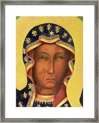 Our Lady Of Czestochowa Virgin Mary Framed Print by Magdalena Walulik