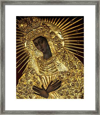 Our Lady Of Grace Of Gate Of Dawn Icon Framed Print by Magdalena Walulik