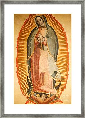 Our Lady Of Guadalupe Framed Print by American School