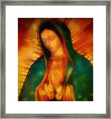 Our Lady Of Guadalupe Framed Print by Bill Cannon