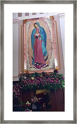 Our Lady Of Guadalupe Detail Framed Print