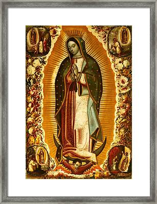 Our Lady Of Guadalupe Framed Print by Magdalena Walulik