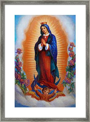 Our Lady Of Guadalupe - Virgen De Guadalupe Framed Print by Svitozar Nenyuk