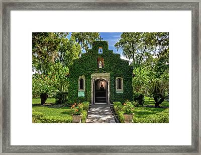 Framed Print featuring the photograph Our Lady Of Le Leche Chapel St. Augustine Florida   -   Ladyoflelechechapel122921 by Frank J Benz