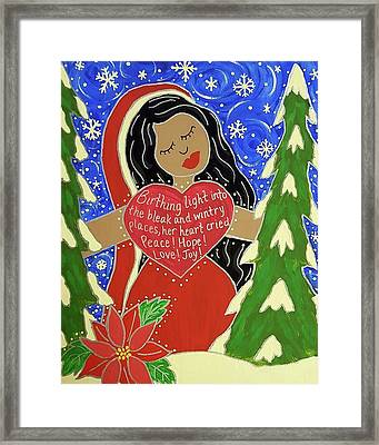 Our Lady Of Light Framed Print