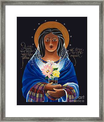 Our Lady Of Light - Help Of The Addicted - Mmlol Framed Print