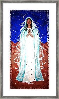 Framed Print featuring the painting Our Lady Of Lucid Dreams by Michelle Dallocchio