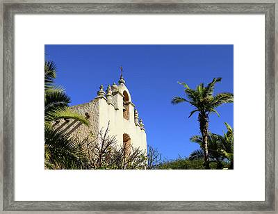 Framed Print featuring the photograph Our Lady Of Mount Carmel - Montecito by Art Block Collections