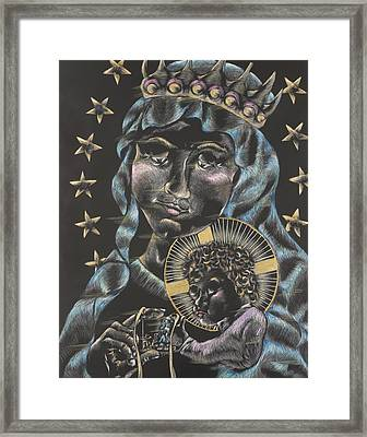 Our Lady Of Mt. Carmel Framed Print by Michelle Miller