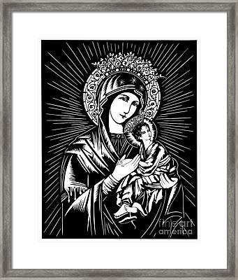 Our Lady Of Perpetual Help - Dpolh Framed Print by Dan Paulos