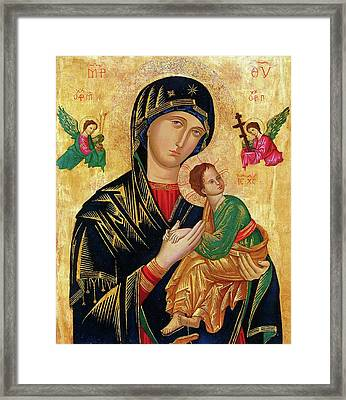 Our Lady Of Perpetual Help Icon Framed Print by Magdalena Walulik