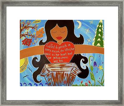 Our Lady Of Proclamation Framed Print