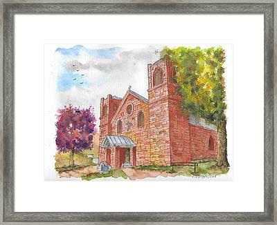 Our Lady Of Sorrow Catholic Church, Las Vegas, New Mexico Framed Print